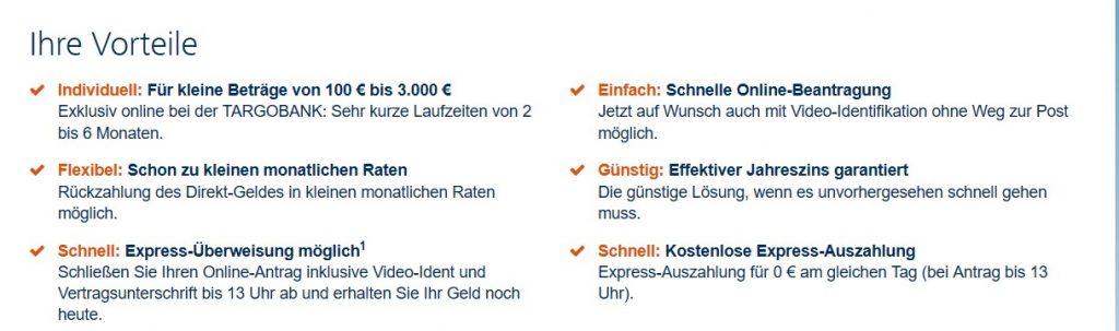 Vorteile vom Targobank Direktgeld