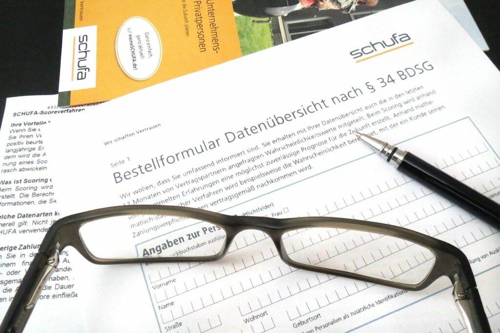 Dokument zur Schufa-Auskunft